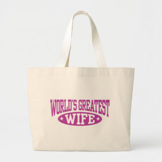 World's Greatest Wife Canvas Bags