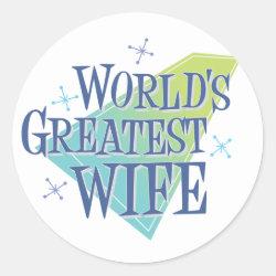 Round Sticker with World's Greatest Wife design
