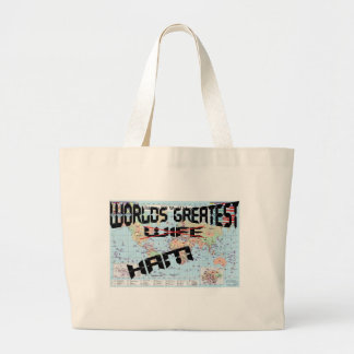 Worlds Greatest Wife/Ham Large Tote Bag