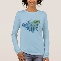 Women's Basic Long Sleeve T-Shirt with World's Greatest Wife design