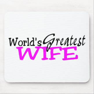 Worlds Greatest Wife Pink Black Mouse Pad