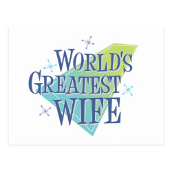 Postcard with World's Greatest Wife design