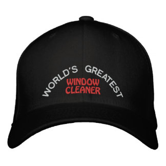 WORLD'S GREATEST, WINDOW CLEANER EMBROIDERED BASEBALL HAT