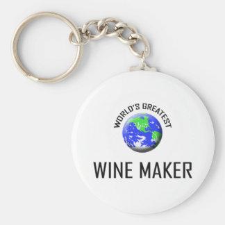 World's Greatest Wine Maker Basic Round Button Keychain