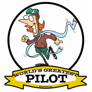 WORLDS GREATEST WOMAN PILOT CARTOON CUT OUTS
