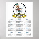 WORLDS GREATEST WOMAN PILOT CARTOON PRINT
