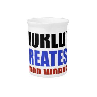 World's greatest wood worker beverage pitcher