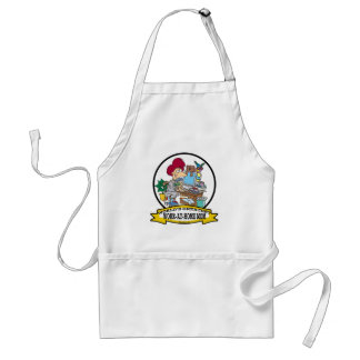WORLDS GREATEST WORK AT HOME MOM WOMEN CARTOON ADULT APRON