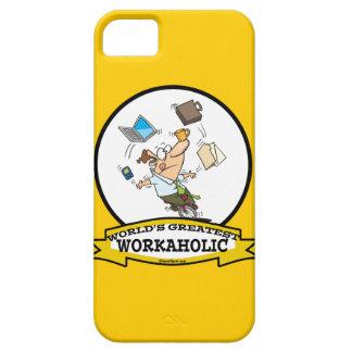 WORLDS GREATEST WORKAHOLIC MEN CARTOON iPhone 5 COVER
