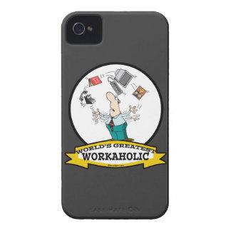 WORLDS GREATEST WORKAHOLIC MEN II CARTOON iPhone 4 Case-Mate CASE