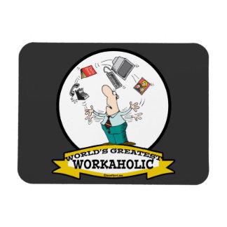 WORLDS GREATEST WORKAHOLIC MEN II CARTOON FLEXIBLE MAGNETS