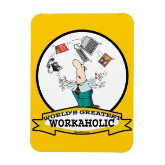 WORLDS GREATEST WORKAHOLIC MEN II CARTOON FLEXIBLE MAGNET