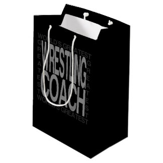 Worlds Greatest Wrestling Coach Medium Gift Bag
