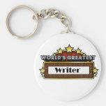 World's Greatest Writer Basic Round Button Keychain