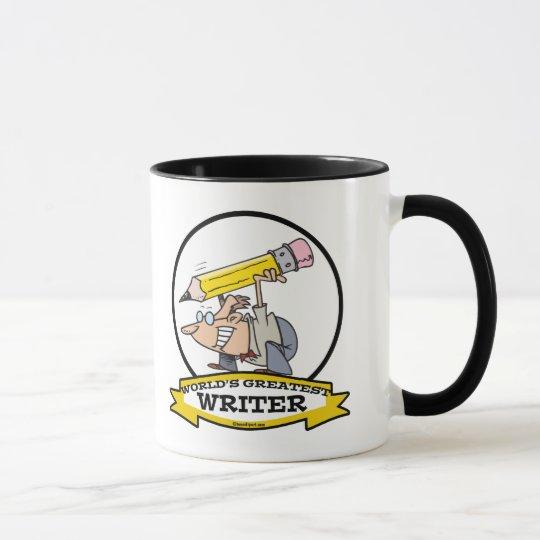 WORLDS GREATEST WRITER II CARTOON MUG