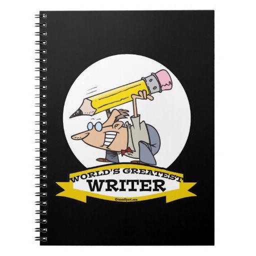 WORLDS GREATEST WRITER II CARTOON NOTEBOOKS