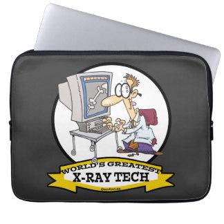 WORLDS GREATEST XRAY TECH MEN CARTOON COMPUTER SLEEVES