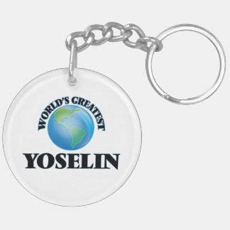 World's Greatest Yoselin Double-Sided Round Acrylic Keychain