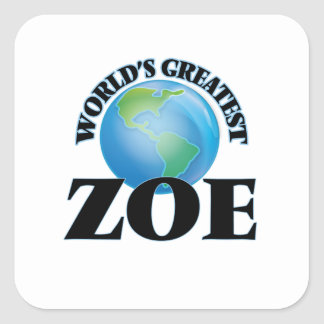 World's Greatest Zoe Stickers