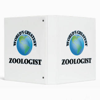 World's Greatest Zoologist Binders