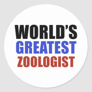 World's greatest ZOOLOGIST Classic Round Sticker