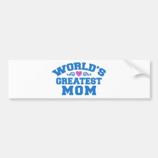 World's Greatlest Mom Bumper Sticker