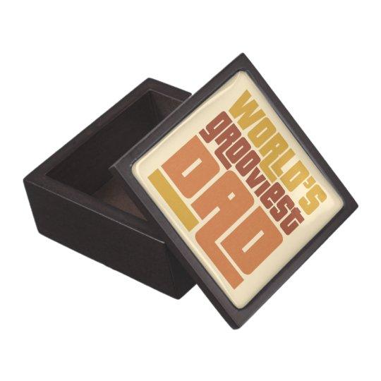 World's Grooviest Dad Retro Funny Gift Box