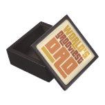 World's Grooviest Dad Retro Funny Gift Box Premium Gift Box