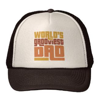 World's Grooviest Dad Retro Funny Mesh Hats