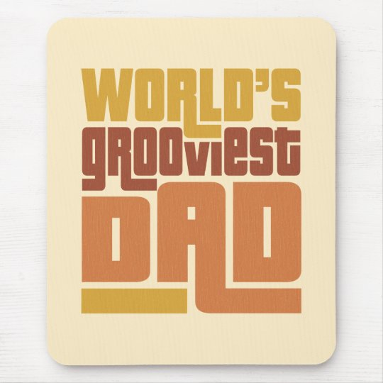 World's Grooviest Dad Retro Funny Mouse Pad