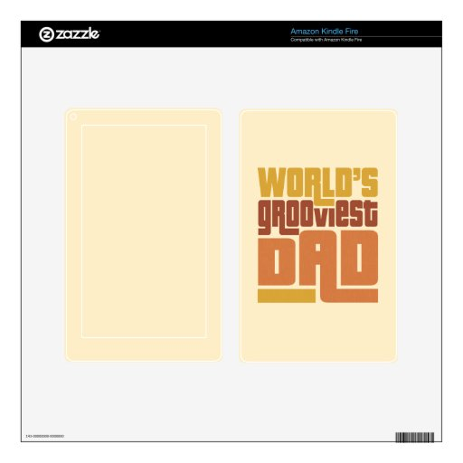 World's Grooviest Dad Retro Funny Decal For Kindle Fire