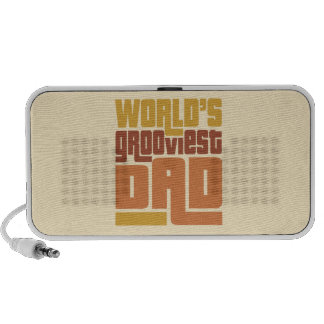 World's Grooviest Dad Retro Funny Speaker