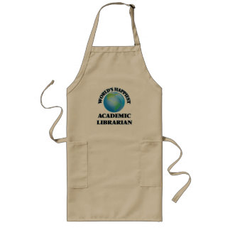 World's Happiest Academic Librarian Long Apron
