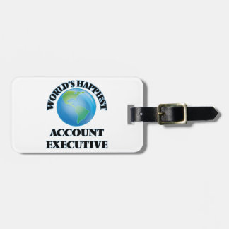 World's Happiest Account Executive Travel Bag Tags