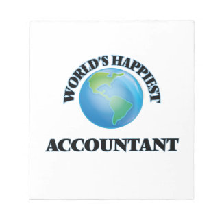 World's Happiest Accountant Note Pad