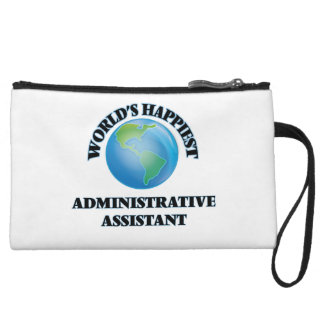World's Happiest Administrative Assistant Wristlet