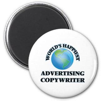 World's Happiest Advertising Copywriter 2 Inch Round Magnet