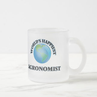 World's Happiest Agronomist Frosted Glass Mug