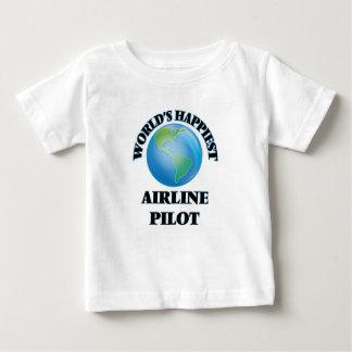 World's Happiest Airline Pilot Tee Shirt