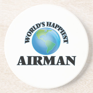 World's Happiest Airman Coasters