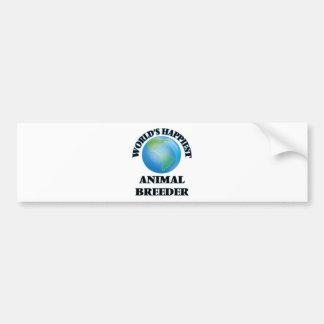 World's Happiest Animal Breeder Car Bumper Sticker