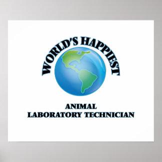 World's Happiest Animal Laboratory Technician Poster