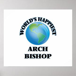 World's Happiest Arch Bishop Poster