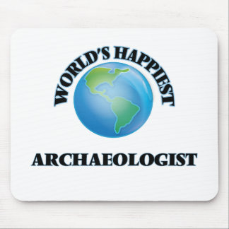 World's Happiest Archaeologist Mouse Pad
