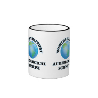 World's Happiest Audiological Scientist Ringer Coffee Mug