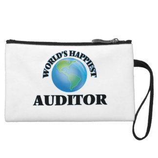 World's Happiest Auditor Wristlet Clutch