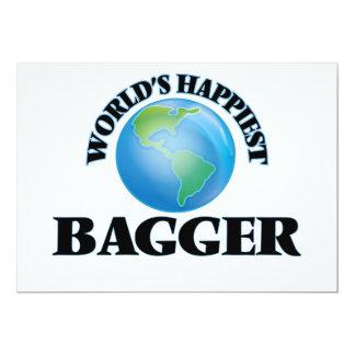World's Happiest Bagger 5x7 Paper Invitation Card
