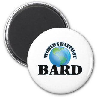 World's Happiest Bard 2 Inch Round Magnet