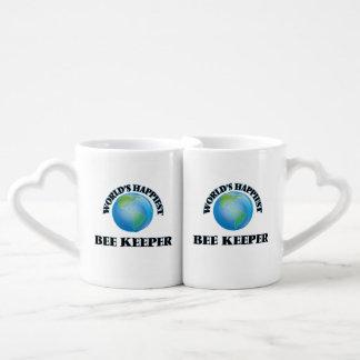 World's Happiest Bee Keeper Couples' Coffee Mug Set