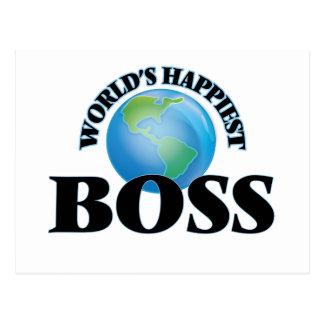 World's Happiest Boss Postcard